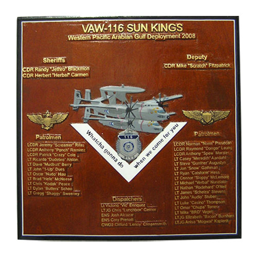 VAW 116 Sun Kings Deployment Plaque