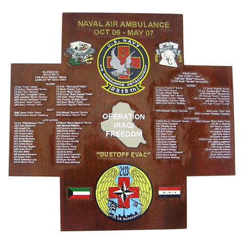 Naval Air Ambulance Deployment Plaque