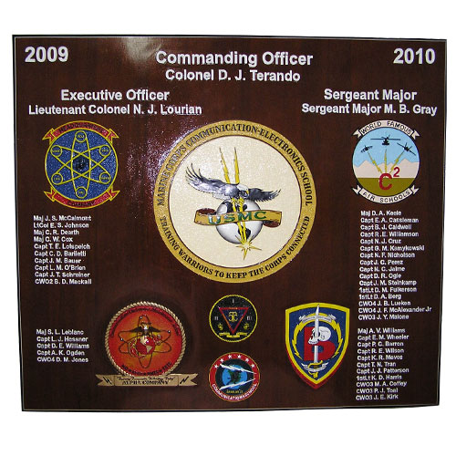 USMC Electronic School Deployment Plaque