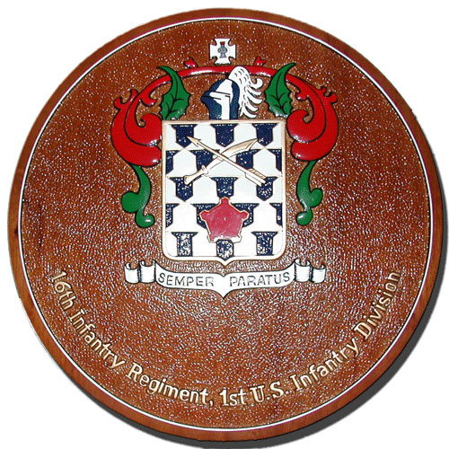 16th Infantry Regimental Crest Plaque