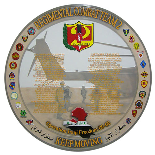 Regimental Combat Team Deployment Plaque