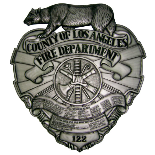 County of LA Fire Department Deployment Plaque