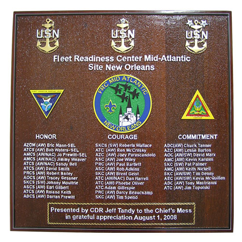 Fleet Readiness Center Mid-Atlantic Deployment Plaque