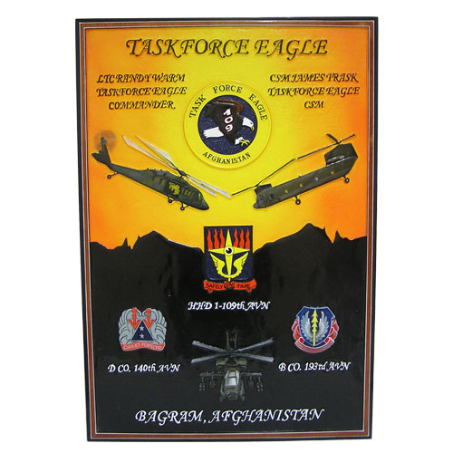 Task Force Eagle Deployment Plaque