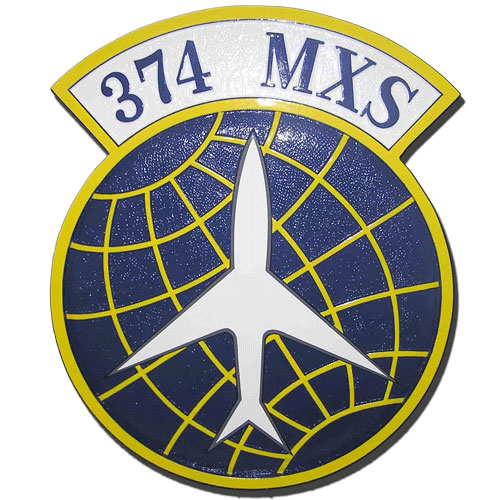 USAF 374th MXS Emblem Plaque