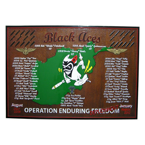 Black Aces Deployment Plaque