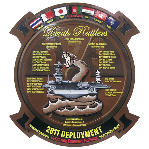 Death Rattlers Deployment Plaque