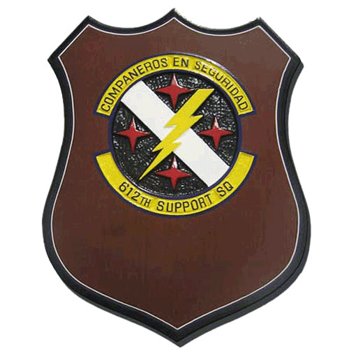 USAF 612th Support Squadron Plaque