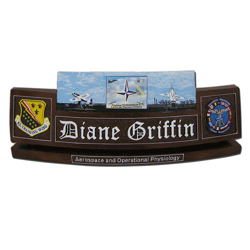Aerospace and Physiology Desk Nameplate