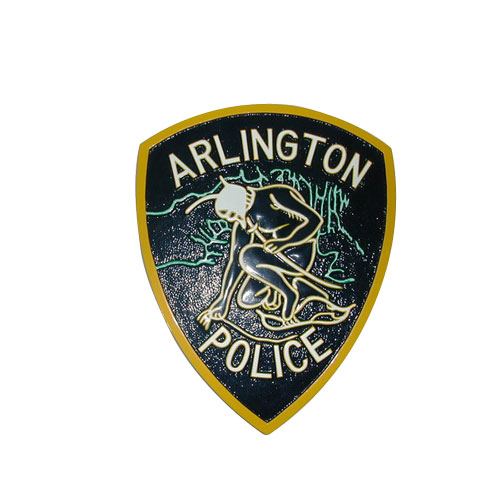 Arlington Police Patch Plaque