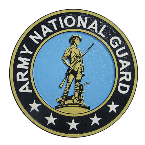 Army National Guard Seal Grey