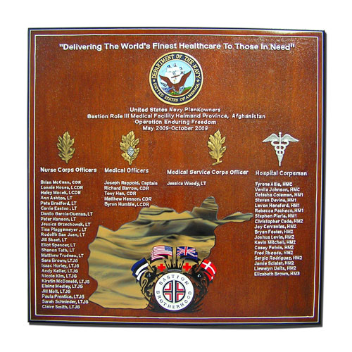 Bastion Brotherhood Deployment Plaque