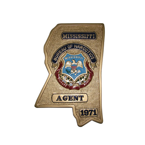 Mississippi Bureau of Narcotics Plaque
