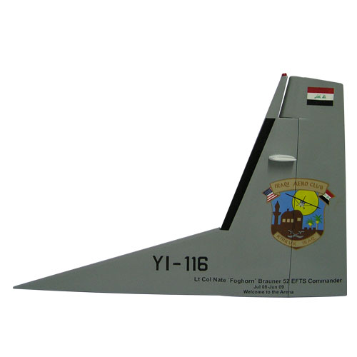 C208-YI-116 Tail Flash Wall Plaque