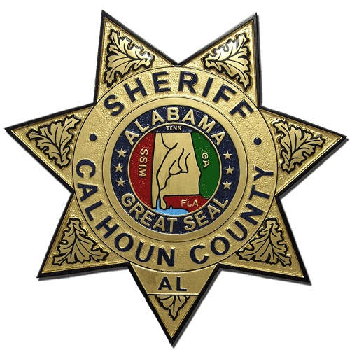 Calhoun County AL Sheriff Badge Plaque