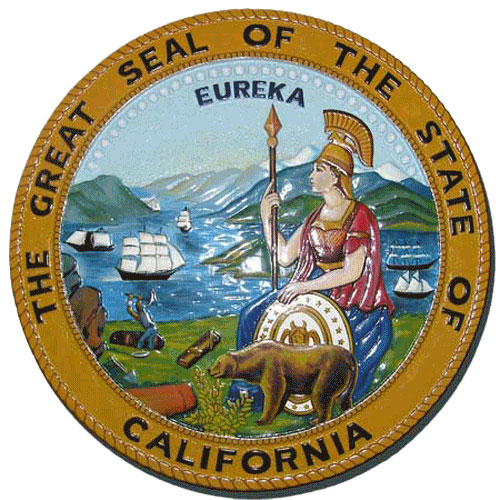 California State Seal Plaque