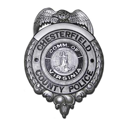 Chesterfield County Police Badge Plaque