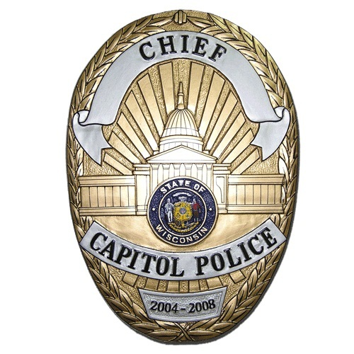 Chief Capitol Police Badge Plaque