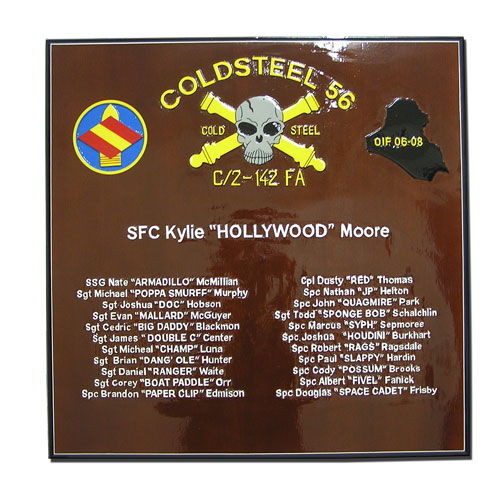 Coldsteel 56 Deployment Plaque