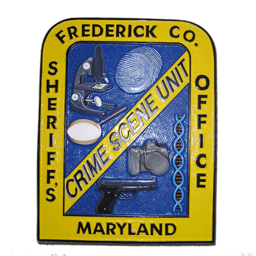 Crime Scene Unit Frederick Co. MD Emblem