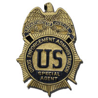US DEA Badge Plaque