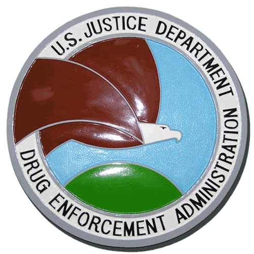 Drug Enforcement Administration DEA Seal / Podium Plaque