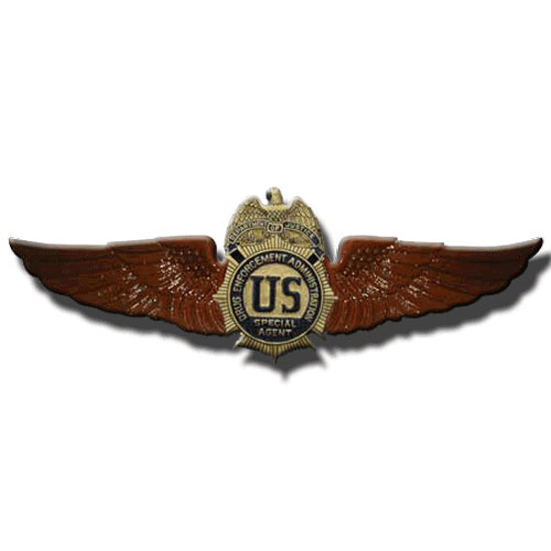 DEA Wings Insignia Plaque