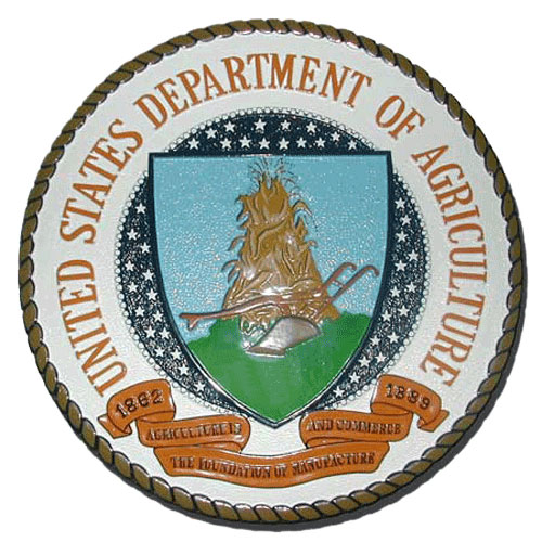 US Department of Agriculture DoA Seal / Podium Plaque