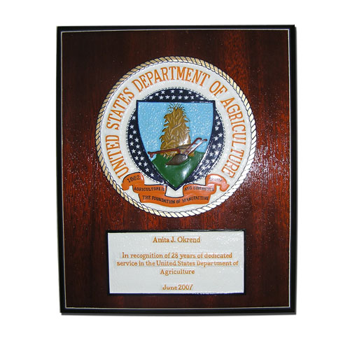 Department of Agriculture Plaque