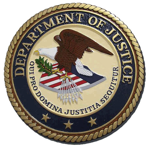 US Department of Justice DOJ Seal / Podium Plaque