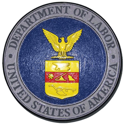 US Department of Labor Seal Plaque