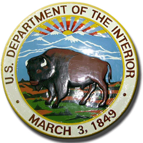 US Department of the Interior  Seal / Podium Plaque