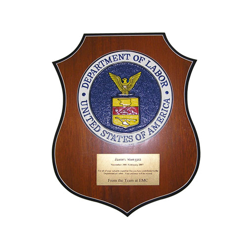 Department of Labor Plaque