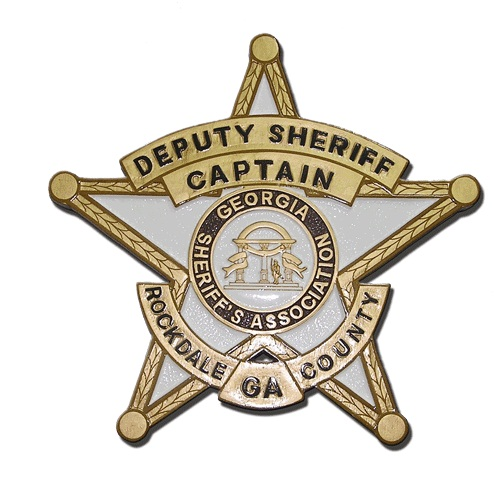 Deputy Sheriff Rockdale GA County Badge Plaque