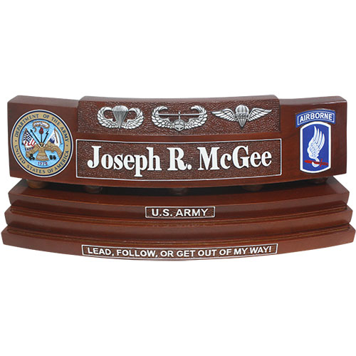 Custom Coin Holder Desk Nameplate