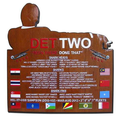 Det Two Deployment Plaque