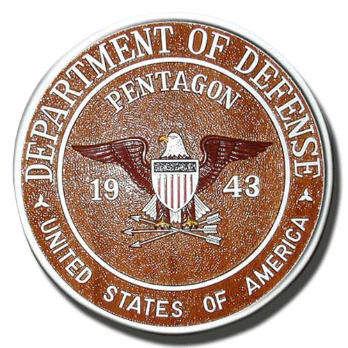 DoD Pentagon 1943 Seal / Podium Plaque