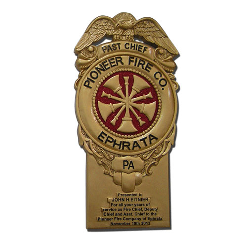 Ephrata Pioneer Fire Co Badge Plaque