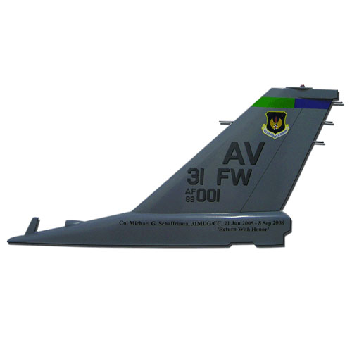 F16 AV 31FW Tail Flash Wall Plaque