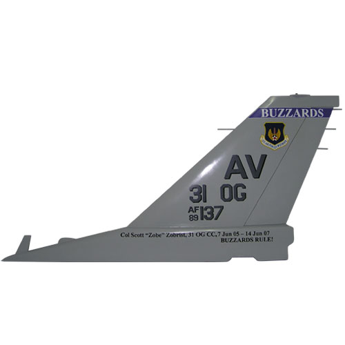 F16 AV 31OG Tail Flash Wall Plaque