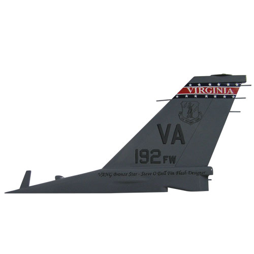 F16-VA192FW Tail Flash Wall Plaque