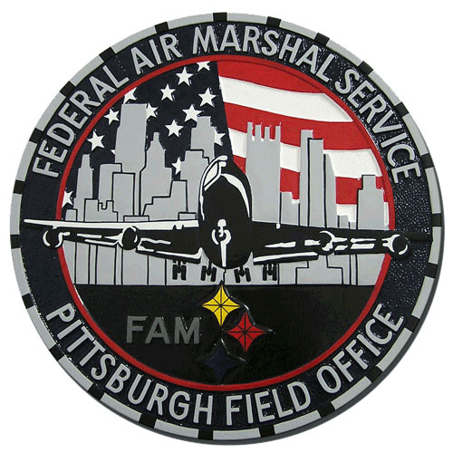 Federal Air Marshal Service Pittsburgh Plaque