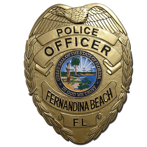 Fernandina FL Police Officer Badge Plaque