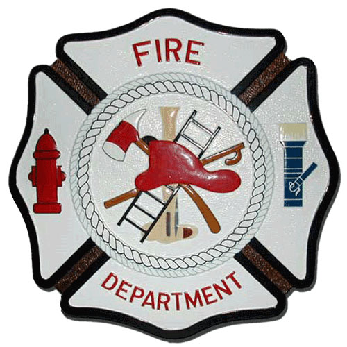 Fire Department Seal Maltese Cross / Podium Plaque