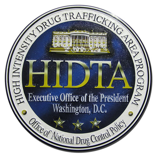 High Intensity Drug Trafficking Area Program HIDTA Seal Plaque