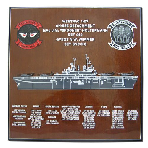 HMH 466 Deployment Plaque