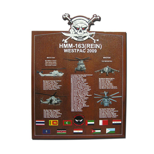 HMM-163 (REIN) Deployment Plaque