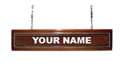 Hanging Nameplate For Wings and Insignia Plaques