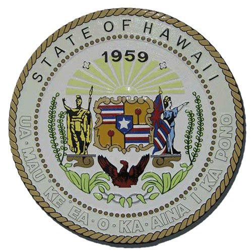 Hawaii State Seal Plaque