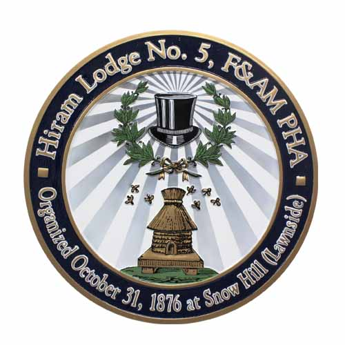 Hiram Lodge No 5 Seal